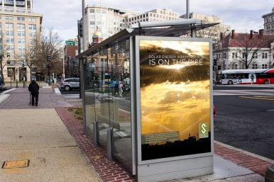 Solar Solution Bus Stop Ad