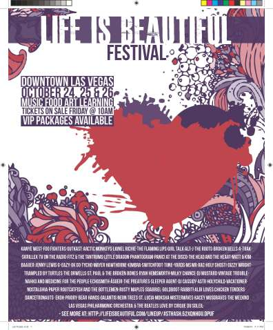 Life Is Beautiful Festival poster