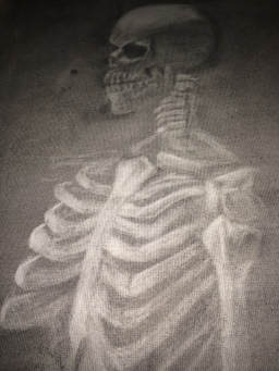 Skeleton (Charcoal and Eraser)